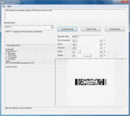 Screenshot of Barcode Xpress - Professional ActiveX - v10