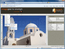 Captura de pantalla ImageGear for Silverlight - Silverlight - v20.4