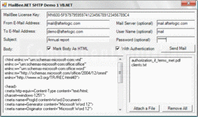 Screenshot of MailBee.NET SMTP - .NET - 7.3
