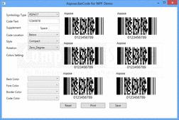 Aspose.BarCode - .NET - V5.9.0의 스크린샷