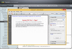 Screenshot of Aspose.Pdf - Java - V9.0.0