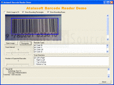 Atalasoft DotImage BarcodeReader Add-On - Add-On - 10.5 의 스크린샷