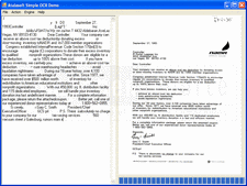 Screenshot of Atalasoft DotImage OCR Add-On - Add-On - 10.4