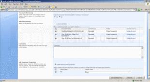 Schermata diSharePoint Batch Check In - Application - V1.7.1201