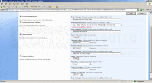 Screenshot ofSharePoint Form Validation - Application - V1.6.813