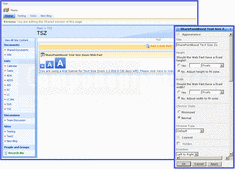 Screenshot ofSharePoint Text Size Zoom - Application - V1.3.720.1