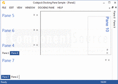 Screenshot of Codejock Docking Pane - Visual C++ MFC - 2013