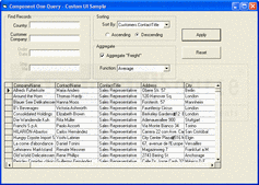 Screenshot of ComponentOne Query - ActiveX (.NET Ready) - 2009 v1