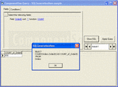 Screenshot of ComponentOne Query - ActiveX  - 2009 v1