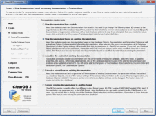 Screenshot of ClearDB Documenter - Application - 3