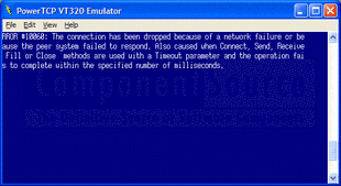 Captura de pantalla PowerTCP Emulation for ActiveX - ActiveX (.NET Ready) - V1.10.0.0
