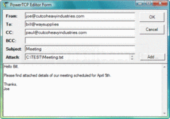 Screenshot of PowerTCP Mail for .NET - .NET Component - V4.1.1.1