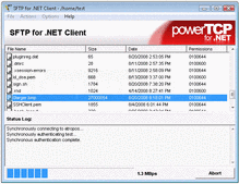 Captura de pantalla PowerTCP SSH and SFTP for .NET - .NET - V4.7
