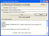 Captura de pantalla PowerTCP Web Enterprise for ActiveX - ActiveX DLL  - V1.9.1
