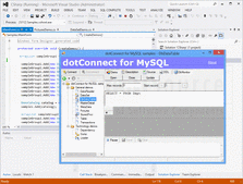 Screenshot of dotConnect for MySQL - .NET - V8.0.17