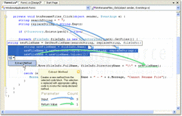 Screenshot of CodeRush for Visual Studio .NET (CodeRush with Refactor! Pro) - .NET - 13.2.5