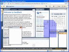 Screenshot of SandDock for Silverlight - Silverlight - V1.3