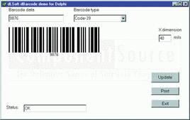 Screenshot of dBarcode DLL - Standard - DLL - V6.5