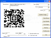 Screenshot of Active 2D Barcode Component - Aztec - ActiveX - V7.1