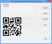 Screenshot of Active 2D Barcode Component - QR Code - ActiveX - V7.0