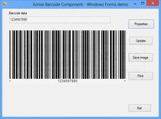 Captura de pantallaActive Barcode Component - Universal - ActiveX - V7.3