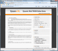 Screenshot of Dynamic Web TWAIN - DLL - V9.1