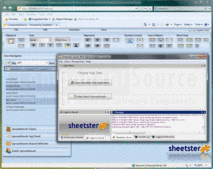 Screenshot of Sheetster Server Pro - Java Application - V2.0