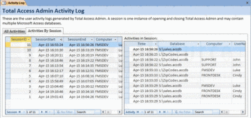 Screenshot of Total Access Admin - Application - 2010