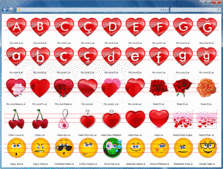 Screenshot of Grafile Love Bonus Pack - Icons - 2012