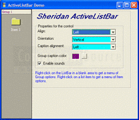 Screenshot of ActiveListBar - ActiveX - V1.0