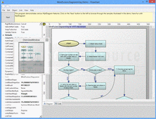Captura de pantalla MindFusion.Diagramming for WPF - .NET - V3.0.5