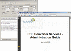 Screenshot of Muhimbi PDF Converter Services - .NET / Java / Web Service - 7.2