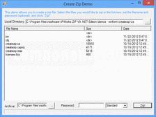 Captura de pantalla IP*Works! Zip - .NET Edition - V9