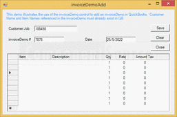 Screenshot ofQuickBooks Integrator - .NET Edition - V6