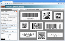 Screenshot of Barcode Professional for Silverlight - .NET - V2.0