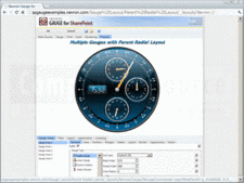 Captura de pantalla Nevron Gauge for SharePoint - Web Part - 2012.1 (Build 13.6.5.12)