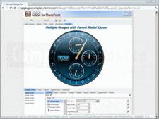 Captura de pantallaNevron Gauge for SharePoint - Web Part - 2014.1 (Build 14.6.25.12)