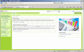 Screenshot of ActionSharePoint Finance Templates for SharePoint  - SharePoint Template - for 2007 and 2010