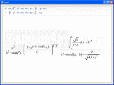 Screenshot of Math Expression Editor Light - .NET - 1.2