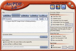Screenshot of ArcPDF - Print Driver - 2.0.004