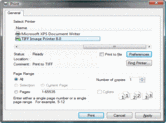 Screenshot of TIFF Image Printer - Print Driver - 10.0.009