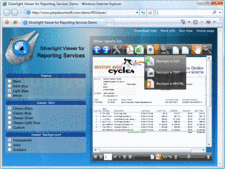 Captura de tela de Silverlight Viewer for Reporting Services - Silverlight - 2.11.0.1