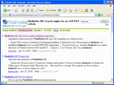 Screenshot of FindinSite-MS - .NET - V1.69