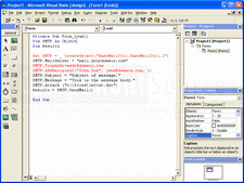 Captura de pantalla EasyMail Objects - SMTP Edition - V6.5