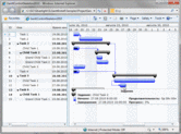 Screenshot of Silverlight Gantt - Silverlight - V5.5