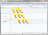 Screenshot of Silverlight Gantt - Silverlight - V6
