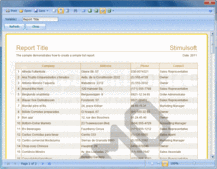 Bildschirmabzug von Stimulsoft Reports.Fx for Java - Java - 2014.1