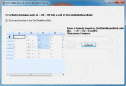 Captura de tela de Syncfusion Essential Calculate - Windows Forms - 2012