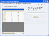 Screenshot of Syncfusion Essential Calculate - .NET Component - 2012