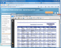 Screenshot of Syncfusion Essential PDF - ASP.NET MVC - 2012